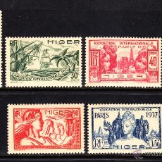 Sellos: NÍGER 57/62** - AÑO 1937 - EXPOSICION INTERNACIONAL DE PARIS - BARCOS. Lote 218346877