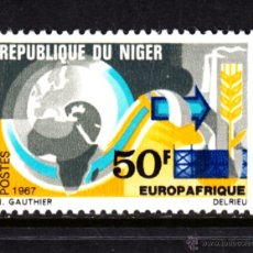 Sellos: NIGER 205** - AÑO 1967 - EUROPAFRICA. Lote 52286927
