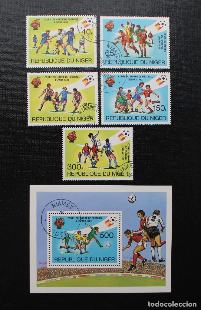 NIGER 1982, COUPE DU MONDE DE FOOTBALL, ESPAÑA 82 COPA MUNDIAL DE FUTBOL, SERIE COMPLETA (Sellos - Extranjero - África - Niger)