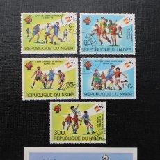 Sellos: NIGER 1982, COUPE DU MONDE DE FOOTBALL, ESPAÑA 82 COPA MUNDIAL DE FUTBOL, SERIE COMPLETA. Lote 87549264