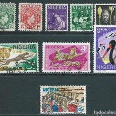 Sellos: NIGERIA,GRUPO DE OCHO SELLOS USADOS ENTRE 1938 Y 1965 MÁS UNO MODERNO. Lote 88942978