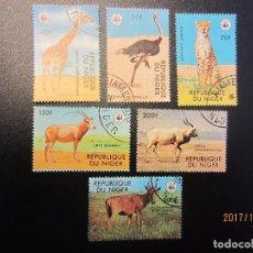 Sellos: NIGER 1978 WWF 6 VALORES MATASELLADO. Lote 101759899