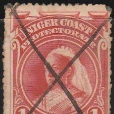 Sellos: 1894 COSTA DE NIGER,PROTECTORADO . REINA VICTORIA 1P, *.MH. Lote 104798211