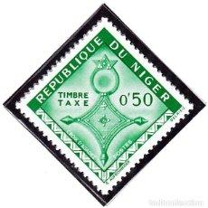 Sellos: 1962 - NIGER - ARTE - CRUCES DEL SAHARA - CRUZ TUAREG AGADEZ - YVERT T 22. Lote 106549991