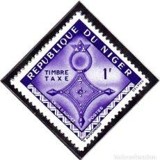 Sellos: 1962 - NIGER - ARTE - CRUCES DEL SAHARA - CRUZ TUAREG AGADEZ - YVERT T 23. Lote 106550055