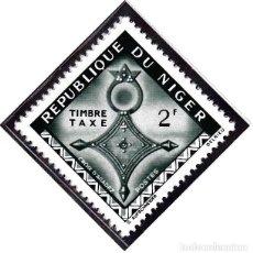 Sellos: 1962 - NIGER - ARTE - CRUCES DEL SAHARA - CRUZ TUAREG AGADEZ - YVERT T 24. Lote 106550091