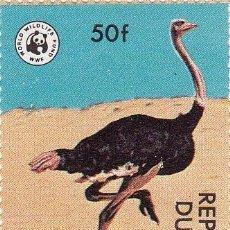Sellos: 1976 - NIGER - WWF - ANIMALES EN PELIGRO DE EXTINCION - AVESTRUZ - YVERT 450. Lote 106550511