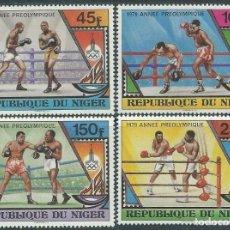 Sellos: NIGER 1979 - JJOO DE MOSCU 80 - BOXEO - YVERT Nº 484-487**. Lote 136744454