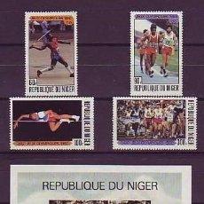 Sellos: NIGER 1980 - JJOO DE MOSCU - YVERT Nº 2068-2075**+ HB28**. Lote 137295302