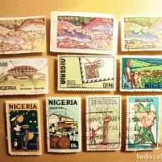 Sellos: NIGERIA - LOTE DE 10 SELLOS - VARIOS TEMAS.. Lote 150432098