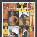 Sellos: NIGER 1998 - FESTIVAL DE LA MODA EN AFRICA - HOJITA BLOQUE. Lote 156063774