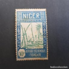 Sellos: NÍGER COLONIA FRANCESA 1926-1940 SACANDO AGUA DE POZO SCOTT 34* YVERT 33*, NUEVO,FIJASELLO,(LOTE AG). Lote 156874042
