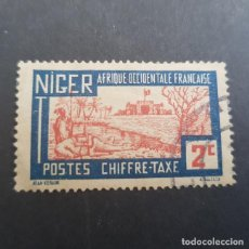 Sellos: NÍGER COLONIA FRANCESA 1927 TAXE TASA SCOTT J9 YVERT 9, USADO,(LOTE AG). Lote 156877038