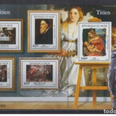 Sellos: NIGER 2015 - ART, PAINTING TIZIANO S/S + M/S MNH. Lote 169140664