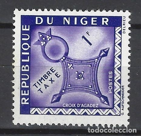 NÍGER 1962 - SELLO DE TAXA, CRUZ DE AGADEZ - SELLO NUEVO ** (Sellos - Extranjero - África - Niger)