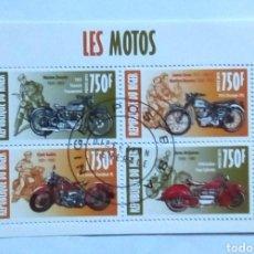 Sellos: NIGER MOTOCICLETAS HOJA BLOQUE DE SELLOS USADOS. Lote 180023333