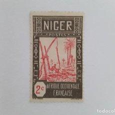 Sellos: NIGER SELLO USADO SEÑAL CHARNELA. Lote 181169166
