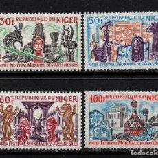 Sellos: NIGER 174/77** - AÑO 1966 - FESTIVAL MUNDIAL DE LAS ARTES NEGRAS. Lote 182396976