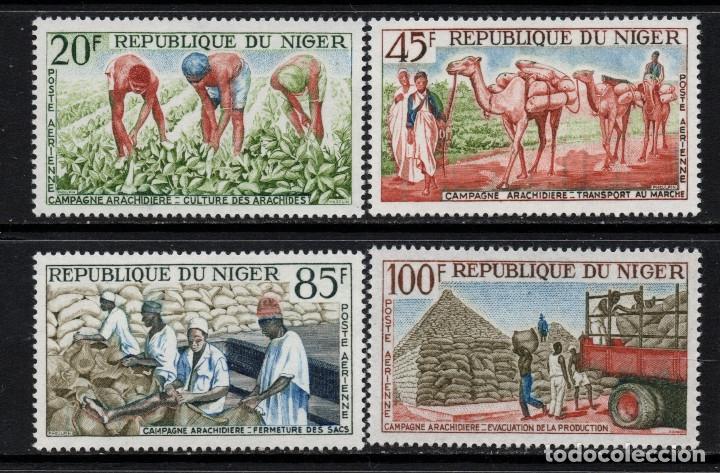 NIGER AEREO 31/34** - AÑO 1963 - AGRICULTURA - CAMPAÑA DEL CACAHUETE (Sellos - Extranjero - África - Niger)