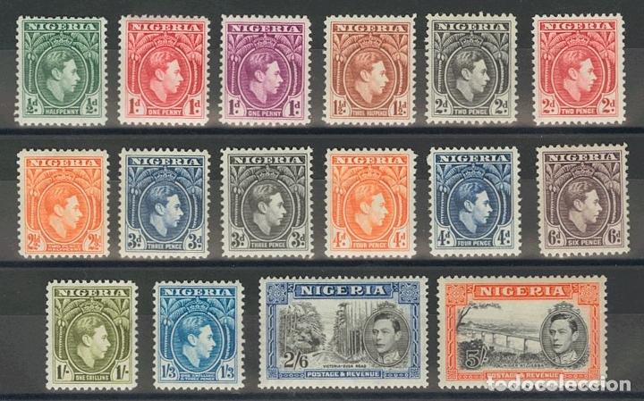 NIGERIA. MH *YV 52/62, 71/74. 1938. SERIE COMPLETA, DIECISEIS VALORES. MAGNIFICA. (SG49/59C 55£) YV (Sellos - Extranjero - África - Niger)
