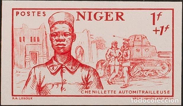 NÍGER. MNH **YV 86A. 1941. 1 F + 1 F ROJO. SIN DENTAR. MAGNIFICO. YVERT 2013: 65 EUROS. REF: 61755 (Sellos - Extranjero - África - Niger)
