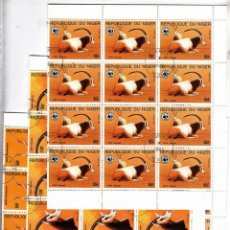 Sellos: NIGER 1985 ANIMALS WWF X 20 SETS USED V.013. Lote 198274571