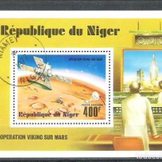 Sellos: NIGER 1977 SPACE, PERF. SHEET, USED O.034. Lote 198274848