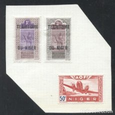 Sellos: NIGER 1921/42 CAMELS, AVIATION, MH AK.080. Lote 198274882