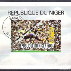 Sellos: NIGER 1980 SPORT, PERF. SHEET, USED O.033. Lote 198274883