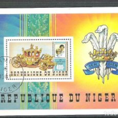 Sellos: NIGER 1981 LADY DI AND CHARLES, PERF. SHEET, USED R.015. Lote 198274893