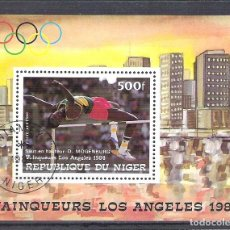 Sellos: NIGER 1984 SPORT, PERF. SHEET, USED O.026. Lote 198274913