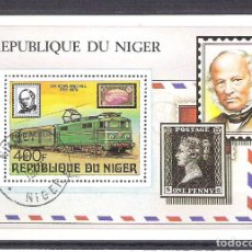 Sellos: NIGER 1979 ROWLAND HILL, PERF. SHEET, USED O.031. Lote 198274922