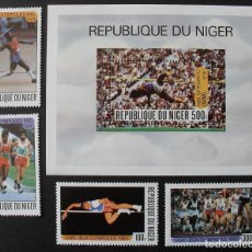 Sellos: NIGER 1980 SPORT OLYMPIC GAMES MOSCOW SET+PERF. SHEET MNH DA.084. Lote 198274927
