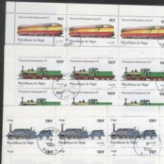 Sellos: NIGER 1980 TRAINS LOCOMOTIVES X 25 SETS MI.707-11 USED V.015. Lote 198274942