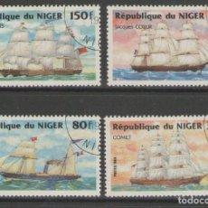Sellos: NIGER 1984 SAILING SHIPS USED T.389. Lote 198274962