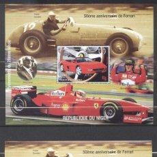 Sellos: NIGER 1998 CARS, FERRARI, SPORT, PERF.+IMPERF. SHEETS, MNH S.245. Lote 198274987
