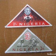 Sellos: NIGERIA 1963, 11 JAMBOREE MUNDIAL, YVERT 141/42. Lote 199058452