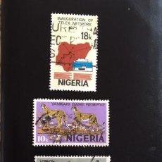 Sellos: 4 SELLOS NIGERIA 1975 Y OTROS, USADOS. Lote 202078142