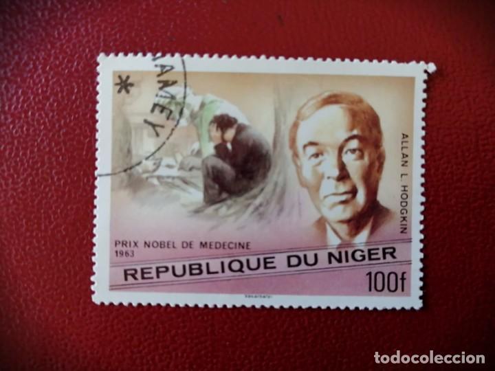 NIGER - VALOR FACIAL 100 F - ALLAN L. HODGKIN - PREMIO NOBEL DE MEDICINA, 1963 (Sellos - Extranjero - África - Niger)
