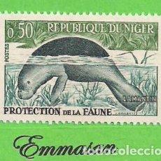 Francobolli: NÍGER - MICHEL 21 - YVERT 96A - PROTECCIÓN A LA FAUNA - MANATÍ. (1973).** NUEVO SIN FIJASELLOS.. Lote 216002911
