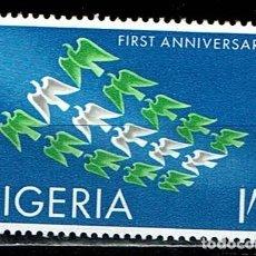 Sellos: NIGERIA 1961 - 1º ANIVERSARIO INDEPENDENCIA. Lote 217829418