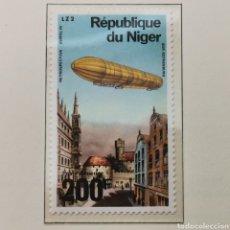 Sellos: NÍGER. 200 FRANCS 1976. ZEPPELIN. Lote 222658626