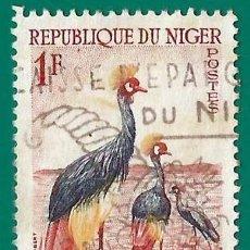 Sellos: NIGER. 1960. AVES. GRULLA CORONADA. Lote 258195580