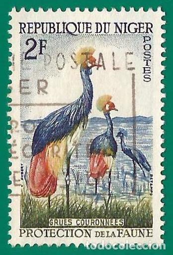 NIGER. 1960. AVES. GRULLA CORONADA (Sellos - Extranjero - África - Niger)