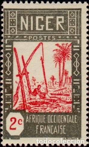NIGER 1926 SCOTT 30 SELLO º AGRICULTURA SACANDO AGUA DEL POZO MICHEL 30 YVERT 30 STAMPS TIMBRE (Sellos - Extranjero - África - Niger)