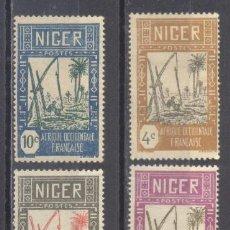 Sellos: NIGER 1926/38, NUEVOS, CHARNELA. Lote 238063315