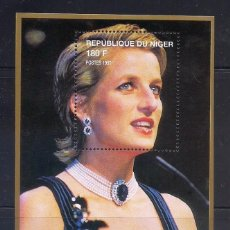 Sellos: NIGER 1997 - LADY DIANA - HB. Lote 262430970