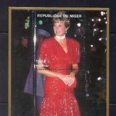 Sellos: NIGER 1997 - LADY DIANA - HB. Lote 262431340