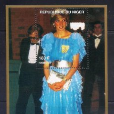 Sellos: NIGER 1997 - LADY DIANA - HB. Lote 262431810