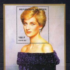 Sellos: NIGER 1997 - LADY DIANA - HB. Lote 262431905